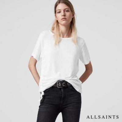 ALLSAINTS TONIC RYDER LUX 素面抽繩寬版短袖T恤上衣-白