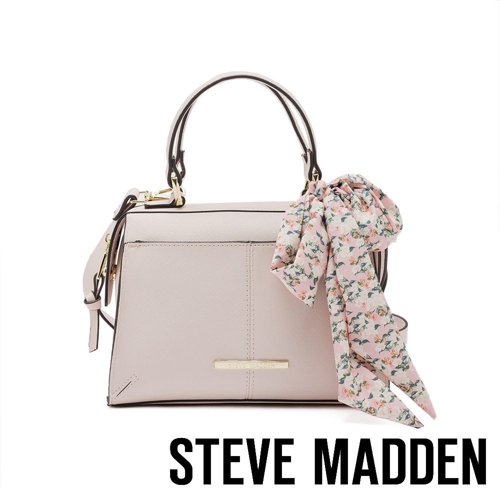STEVE MADDEN-BREESE 絲巾綁飾手提斜背小方包-米杏色 product image 1
