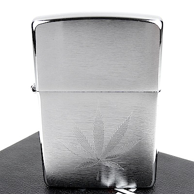 ZIPPO 美系~Leaf Design-大麻葉圖案自動雕刻打火機