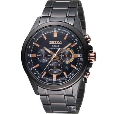 SEIKO 精工Criteria太陽能計時腕錶(SSC695P1)