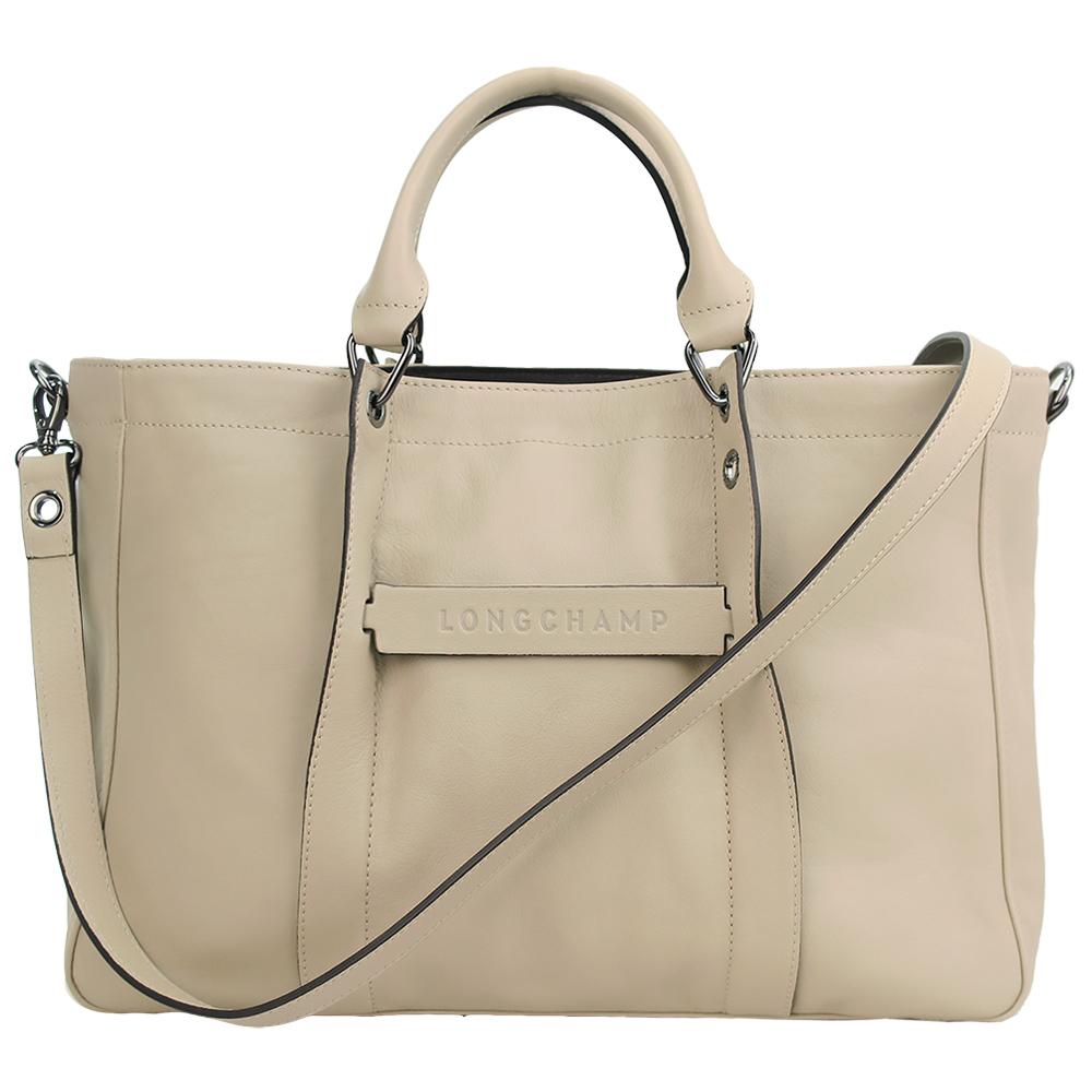 Longchamp 3D系列斜背兩用包-米/大 @ Y!購物