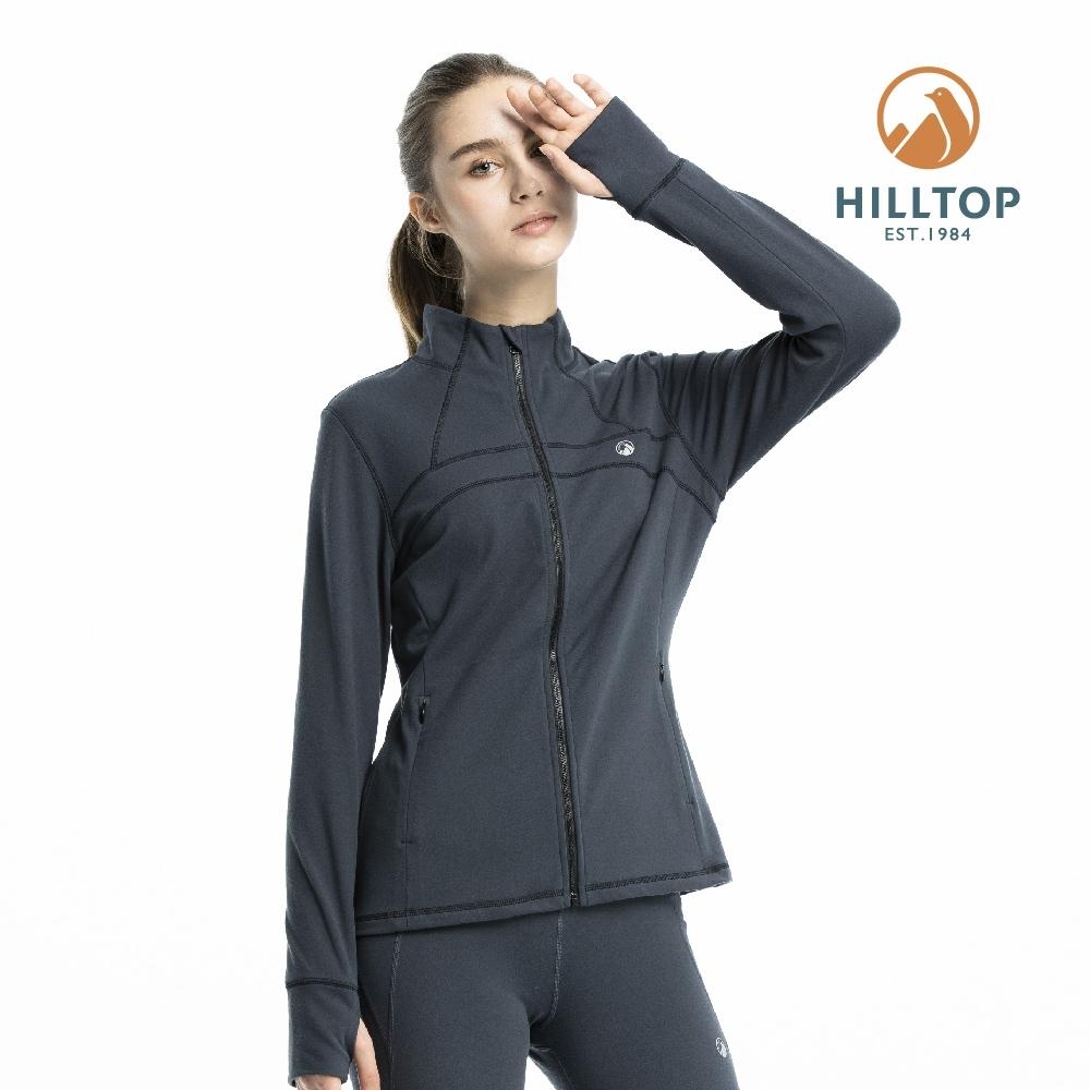 【hilltop山頂鳥】女款ZISOFIT保暖吸濕快乾刷毛外套PH22XFW0ECK0深灰色