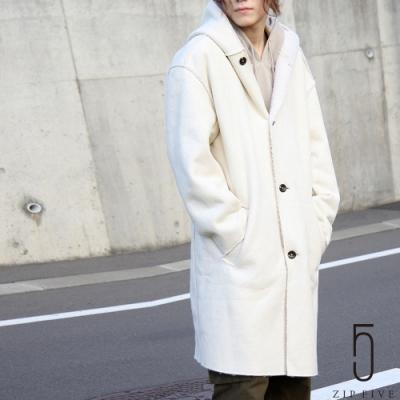 ZIP日本男裝 仿羊皮BOA連帽大衣 (3色)