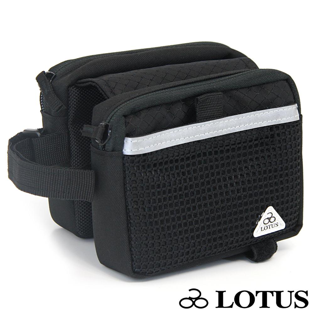 LOTUS自行車專用拉鍊式上管馬鞍袋 (黑)