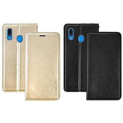 Metal-Slim Samsung Galaxy A30 高仿小牛皮TPU站立皮套