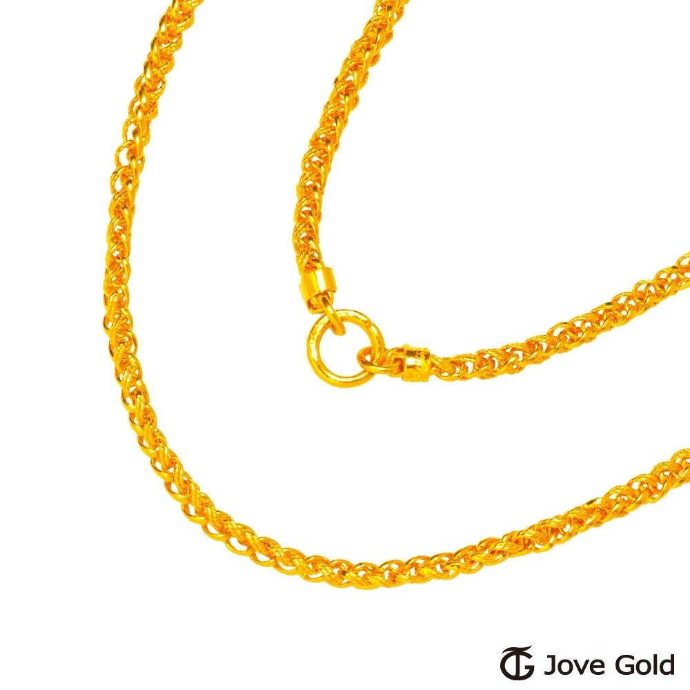 Jove Gold 漾金飾 文武鍊黃金男項鍊(約10.20錢)(約2尺/60cm)