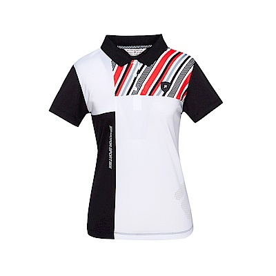 FILA 女款短袖POLO衫-黑色 5POT-1487-BK