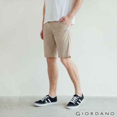 GIORDANO  男裝彈力輕薄短褲 - 14 陶器卡其