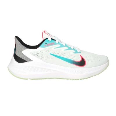 NIKE WMNS ZOOM WINFLO 7 女慢跑鞋-路跑 運動鞋 輕量 氣墊 CJ0302102 白湖綠粉黑