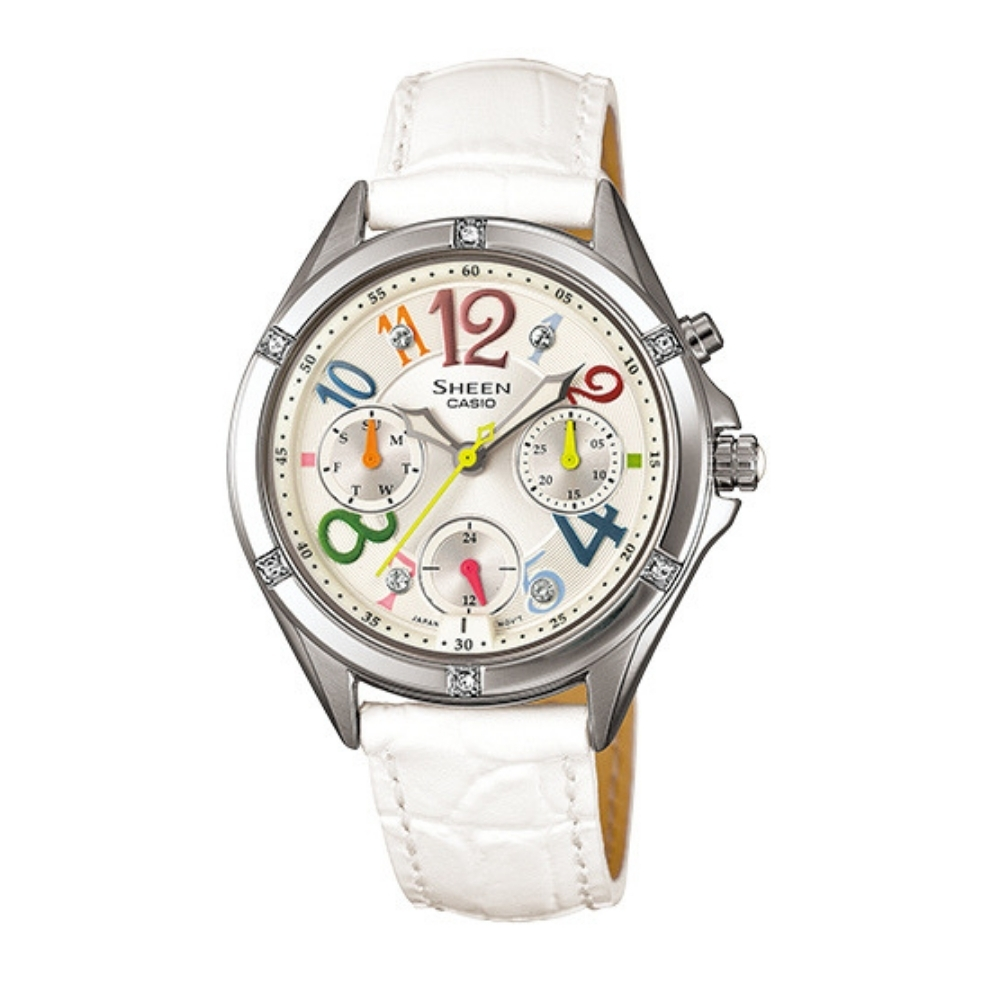 CASIO卡西歐 優雅簡約皮帶錶(SHE-3031L-7A)
