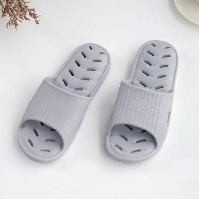 333家居鞋館 緩壓排水浴室拖鞋-灰色