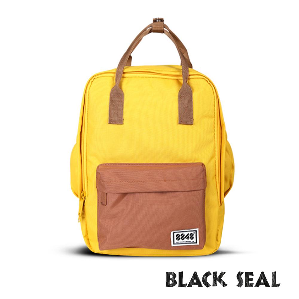BLACK SEAL 聯名8848系列-多隔層休閒小方型後背包-鵝黃BS83008