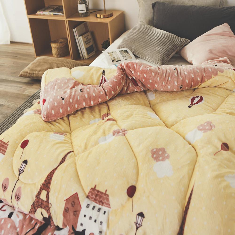 絲薇諾 鐵塔貓咪 MIT 雙面法蘭絨被/單人-145×195cm