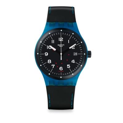 Swatch 51號星球機械錶 SISTEM CLASS 機械迷藍手錶