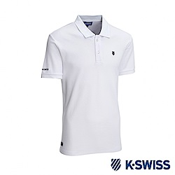 K-SWISS KS Logo Polo短袖POLO衫-男-白