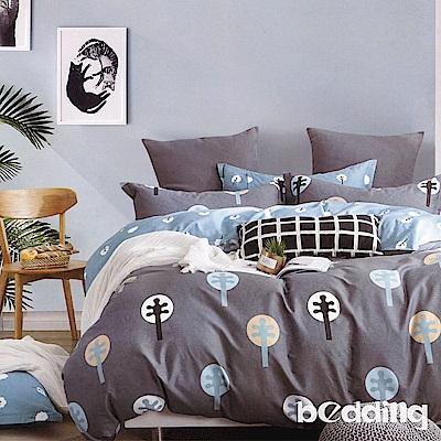 BEDDING-100%棉6尺加大雙人薄式床包三件組-云山沐晚
