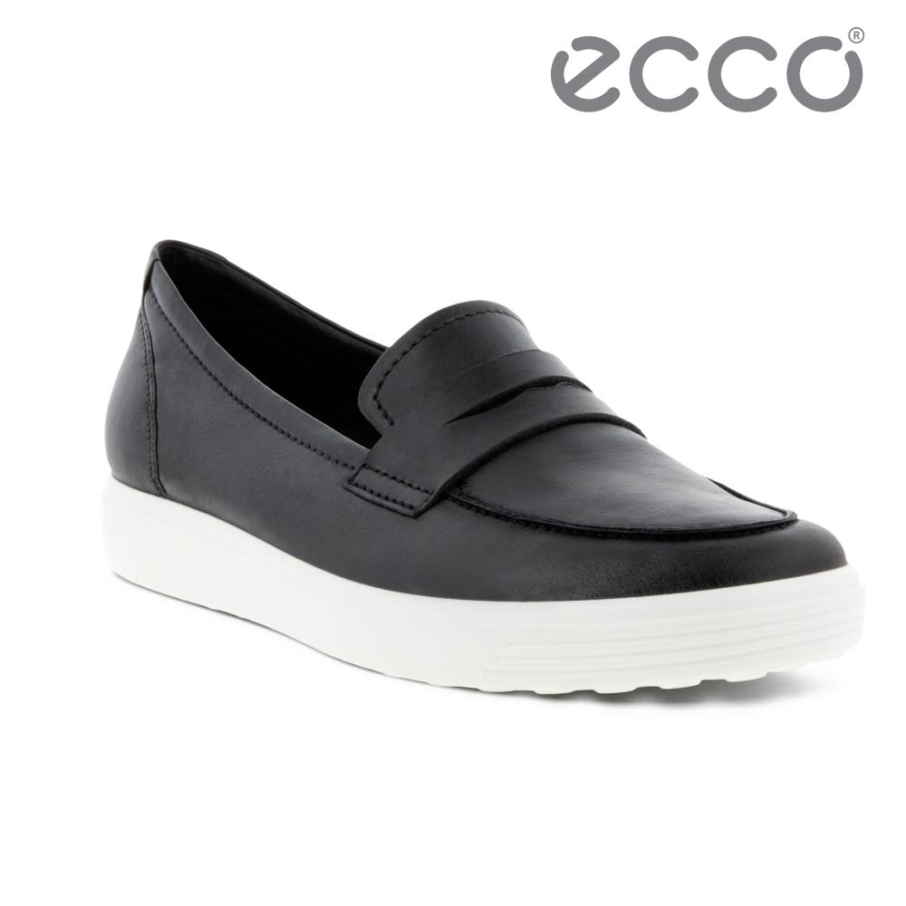 ECCO SOFT 7 W 套入式輕盈休閒鞋 女鞋 黑色