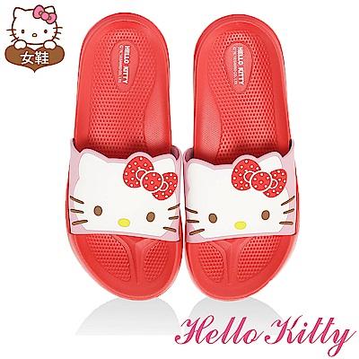 HelloKitty 輕量吸震內外兩用拖童鞋-紅