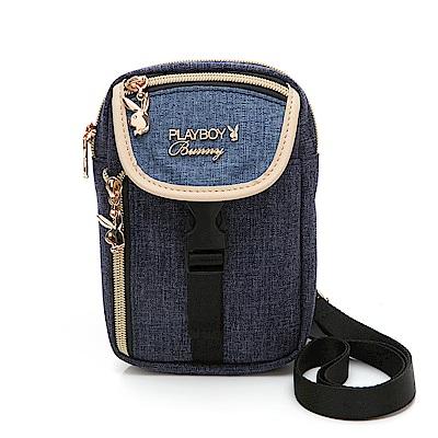 PLAYBOY-  斜背小包 單寧世代系列 -藍色