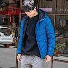 純色簡約科技羽絨棉外套-OB嚴選