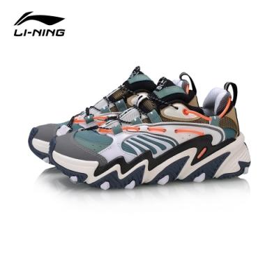 LI-NING 李寧 X-Claw貓爪 時尚潮流休閒鞋 女 灰綠海星褐(AGLQ014-4)