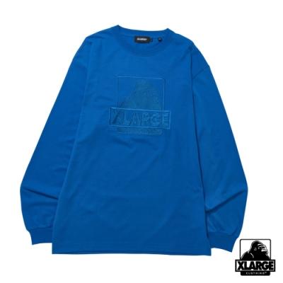 XLARGE L/S TEE EMBROIDERY OG長袖T恤-藍