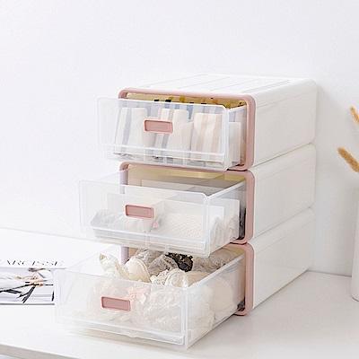 Mr.box日式抽屜式內衣小物整理盒收納箱1組3入二色可選