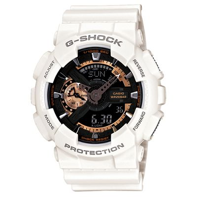 G-SHOCK 染金炫彩新重機裝置Man概念錶(GA-110RG-7A)-白/51.2mm