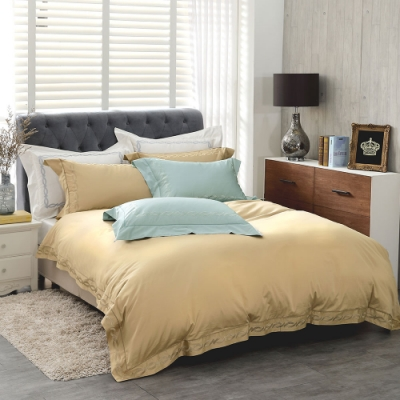 鴻宇 SUPIMA500織 素色刺繡 <b>5</b>色任選 四件式雙人薄被套床包組