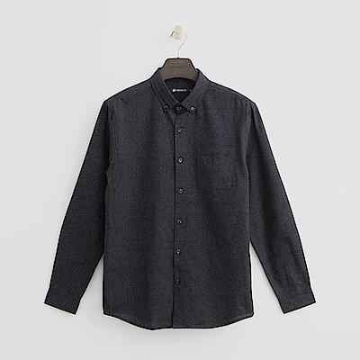 Hang Ten - 男裝 - 拼接條紋襯衫 - 藍