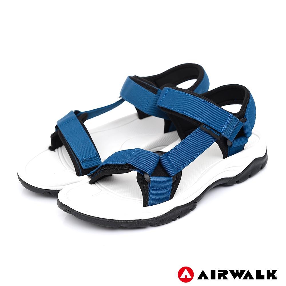 【AIRWALK】Y字造型休閒涼鞋-男款-中藍