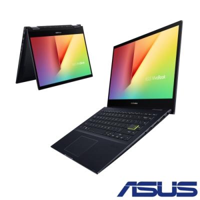 ASUS 華碩 TM420IA-0112KR74700U 14吋翻轉觸控筆電(R7-4700U/4G+4G/512G SSD/Flips 14/黑)
