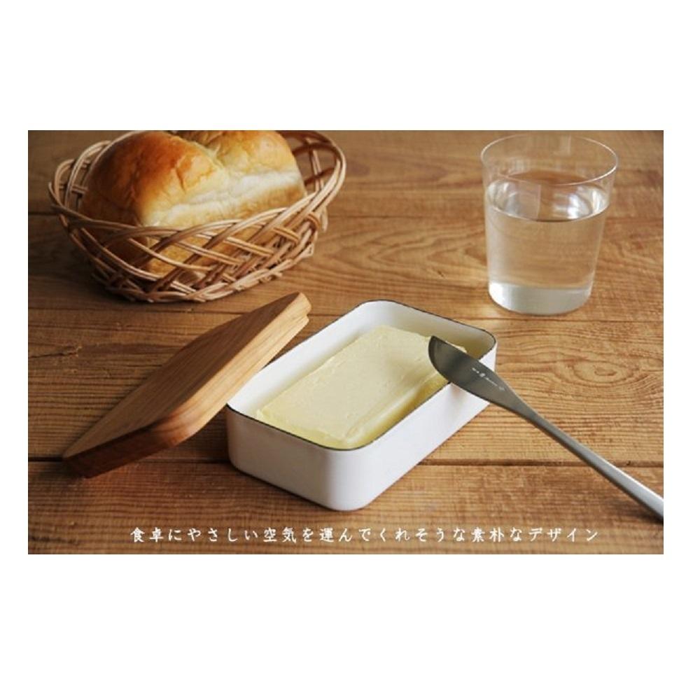 日本野田琺瑯 淺型奶油保存盒200g