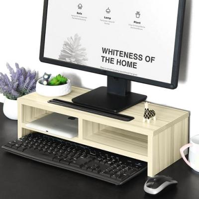 雙層電腦螢幕增高架 (3C桌上架置物櫃/顯示器置物架/電腦桌螢幕架鍵盤架/鍵盤收納架收納櫃/辦公室桌面螢幕架)