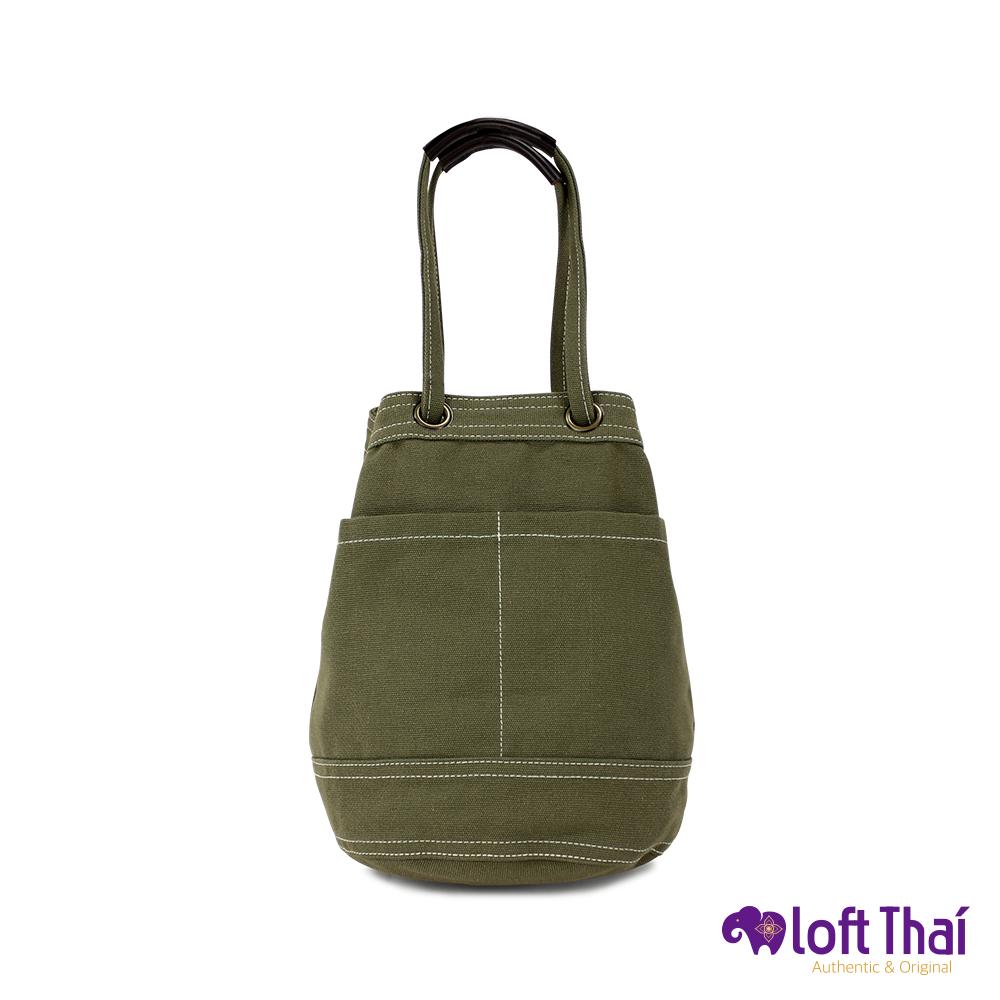 Loft THAI | 泰.兩用帆布水桶包(小) | Olive @ Y!購物