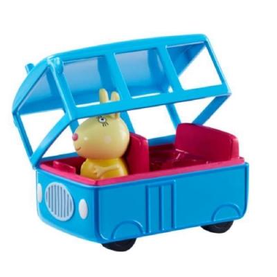 粉紅豬小妹 交通工具組系列-兔小姐的迷你校車巴士  PEPPA PIG