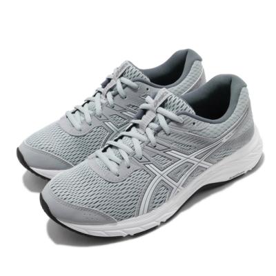 Asics 慢跑鞋 Gel-Contend 6 運動 女鞋 亞瑟士 路跑 耐磨 緩衝 入門 亞瑟膠 灰 白 1012A570022