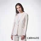 L'ARMURE 女裝 女士彈性 西裝外套 白沙色