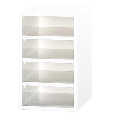 綠活居 阿爾斯環保0.8尺塑鋼四格書櫃/收納櫃-25x31x41.5cm免組