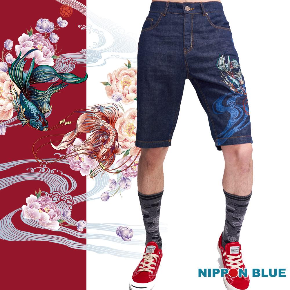 日本藍  BLUE WAY 日本藍鬥魚牛仔短褲