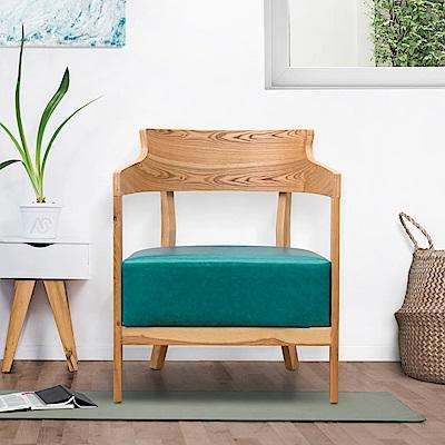 AS-曼蒂單人休閒椅(綠色)-62.5x59x78cm