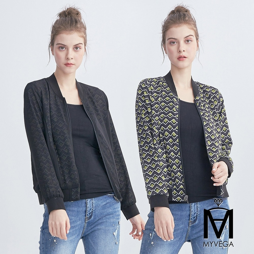 麥雪爾 MA幾何圖形印花雙面穿外套