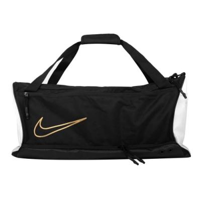 NIKE 大型氣墊旅行袋-ELITE 籃球 訓練 AIR MAX 行李袋 健身袋 BA6163-011 白黑金