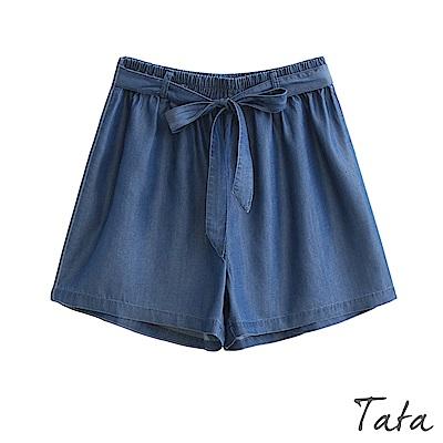 鬆緊腰牛仔褲(配腰帶) 共二色 TATA