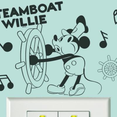 itaste小品味 BID108 經典米奇系列開關壁貼-威利船