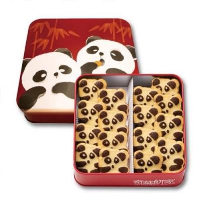 奇華好禮 熊貓曲奇禮盒2盒宅配組(16片/盒,鐵盒 附提袋)
