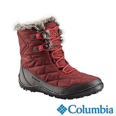 Columbia哥倫比亞 女款-防水自體發熱保暖雪靴-暗紅 UBL59600