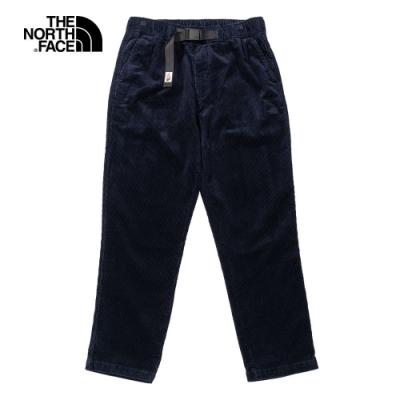 The North Face 男 燈芯絨休閒褲 藍-NF0A4NETRG1