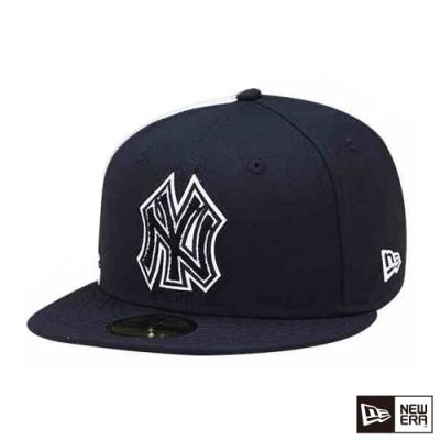 NEW ERA 59FIFTY 5950 毛巾徽章 洋基 黑 棒球帽