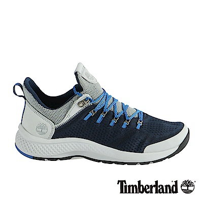 Timberland 男款FlyRoam Trail海軍藍低筒布面靴